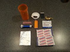 Mini First Aid Kit for camping, purse, car, etc.