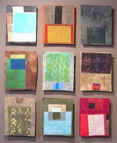 Marcia Derse Floats - postcard-sized fabric studies
