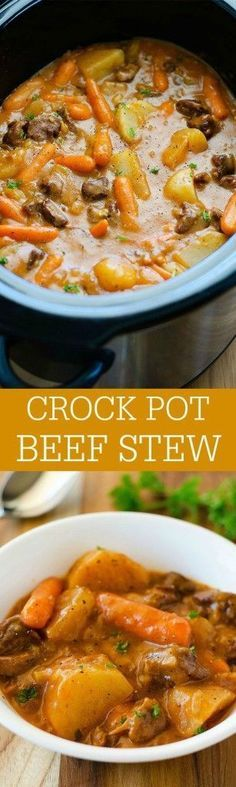 The most delicious beef stew ever slow cooked in the crock pot. Perfect for cold weather nights!