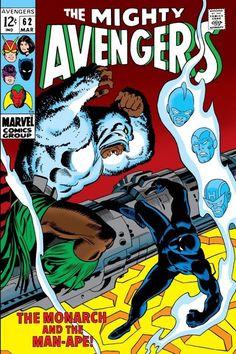 Cover for The Avengers (Marvel, 1963 series) Marvel Comic Universe, Marvel Comic Books, Comics Universe, Comic Books Art, Comic Art, Avengers Comics, Avengers Team, Dc Comics, Man Ape