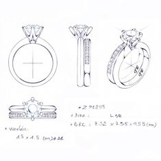 Classic six claw knife edge setting by Jason Withers to accept a straight weddin. - Classic six claw knife edge setting by Jason Withers to accept a straight wedding band - Heart Wedding Rings, Cool Wedding Rings, Jewelry Kits, Jewelry Shop, Ring Sketch, Tiffany Rings, Tiffany Wedding Bands, Jewelry Design Drawing, Wedding Rings