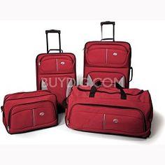 Samsonite Fieldbrook Four-Piece Luggage Set (Red) for $69.00 (orig. $199.99)