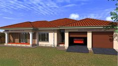 Save time and money with our Budget House Plans at discounted prices. Get a FREE House Plan Floor Layout design for your property. Home Design Plans, Plan Design, Tuscan House Plans, House Plans South Africa, Flat Roof House, Free House Plans, House Plans With Photos, My Dream Home, Dream Homes