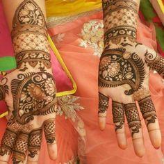 Lotus henna design