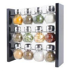 Longden Enterprises Inc 12 Piece Jar Spice Rack Set on Wooden Stand