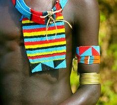 Africa   Details; Banna man.  Omo Valley, Ethiopia   ©Frans Devriese