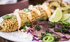 Home & Family - Recipes - Cristina Cooks Steak Tacos With Chimichurri Sauce and Mexican Street Corn | Hallmark Channel