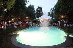 Evening beside the pool  #bedandbreakfast #wedding #Georgia #inn #pool