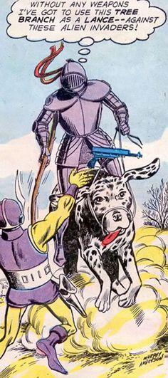 Atomic Knights - Pre-Crisis DC Comics - 1960 original - Broome - Profile - Writeups.org Knight Squad, Strange Adventure, Comic Books Art, Book Art, Laurel Canyon, Martial Artist, Dc Heroes, Knights, Dc Comics