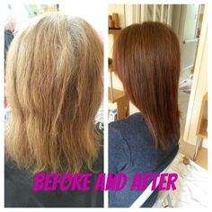 Colour change, Before and After
