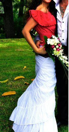 Gypsy style wedding dress