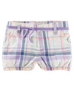 Plaid Bubble Shorts