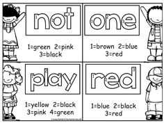 Color by Number Sight Words!  Such a FUN way to learn and reinforce sight words!