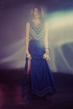 Mara Hoffman Beaded Silk Chiffon Gown at Free People Clothing Boutique--- Dream Dress Great Gatsby Prom Dresses, 1920s Inspired Dresses, Prom Dresses For Sale, Dressy Dresses, Dress Outfits, Dress Up, Lace Dresses, Club Dresses, Maxi Gowns
