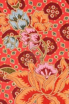 Picture of Thailand style original textile, colourful flower texture. stock photo, images and stock photography. Blood Orange, Orange Red, Art Ideas, Room Ideas, Flower Texture, Colourful Living Room, Wall Papers, Colour Inspiration, Colorful Flowers
