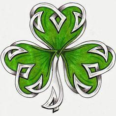 Pretty Celtic Shamrock Leaf Tattoo Stencil By HDevers Tattoos Skull, Body Art Tattoos, Cool Tattoos, Tatoos, Celtic Symbols, Celtic Art, Celtic Knots, Irish Symbols, Celtic Patterns