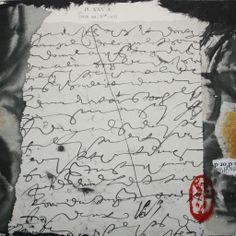 Sév - 2020 - Collage on cardboard - Mixed Media - Nov-déc 2013 - Verso