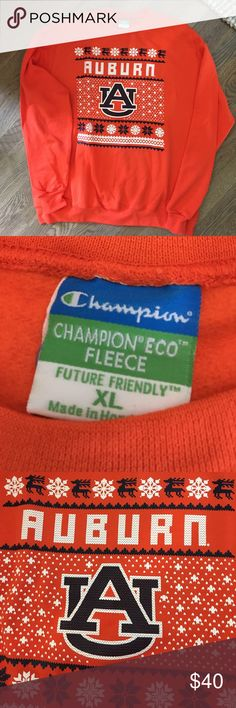 NWOT Men's Auburn Tigers Sweatshirt, XL New without tags, man's University of Auburn Tigers crew sweatshirt, size extra large, 50% cotton, 50% polyester. Champion Shirts Sweatshirts & Hoodies