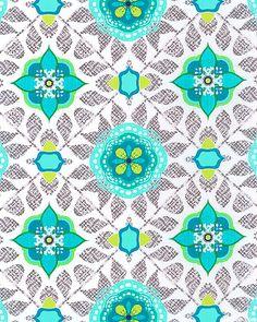 Impressions Fall 2012 - Maya - White Aqua, Blue Topaz, Turquoise, Chartreuse, Slate Gray. Emerald Green, White