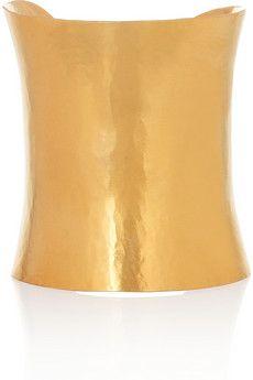 Herve Van Der Straeten 24kt gold plated cuff