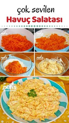 Carrot Salad (with video) – Delicious Recipes - Essen Diets For Men, Carrot Salad, Snack Recipes, Snacks, Fat Loss Diet, Best Appetizers, Carrots, Side Dishes, Yummy Food