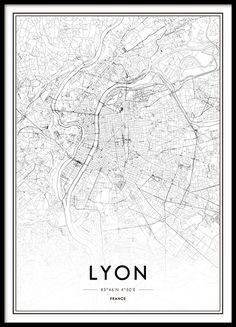 Lyon Affiche dans le groupe Affiches / Cartes et villes chez Desenio AB (8727)