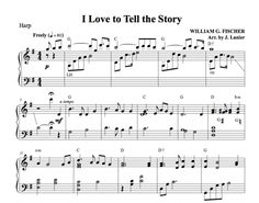 $1.50 Harp Music: I Love to Tell the Story for Harp