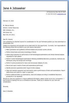 Medical Laboratory Technician Resume