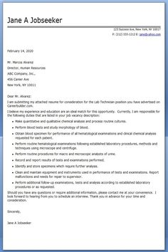 find this pin and more on creative resume design templates word lab technician cover letter examples - Sample Resume For Medical Lab Technician