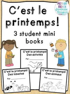 C'est le printemps! 3 student mini books