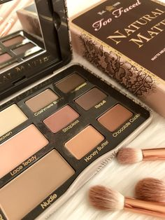 Beautiful Too Faced Natural Matte Eye Shadow Collection - #ad #cosmetics #makeup #beauty #urbandecay #eyeshadowpalette #eyeshadow