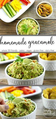 Homemade Guacamole: