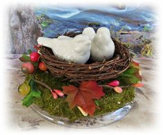 Love Birds Nest Cake Topper  Love Birds Weddings by All4Brides, $50.00