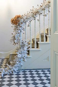 Stair rail decorations - David Giles Photography
