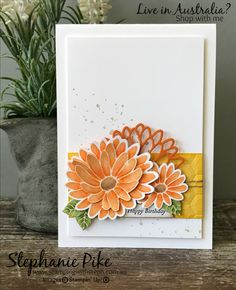 While I was still playing with the Special Reason stamp set and watercolour pencils I made myself another card. This time I used Peekaboo Peach and Pumpkin Pie. Again I just love this stamp set, I keep going back to pick it up when I'm making a card. Does that happen to you when you Read More