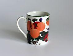 Vintage, Hues n Brews,Herman Dodge,Tea Cup,Coffee Mug,Japan Mug,Made in Japan,Grape Mug,Peach Mug,Plum Mug by HoneyQueenBee on Etsy