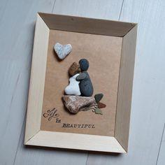 Obraz z kamieni wykonany przez - Another! Stone Art, Frame, Blog, Handmade, Beautiful, Instagram, Home Decor, Picture Frame, Hand Made