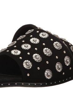 The Kooples Buckskin Flip Flops with Nail Detail (Black) Women's Sandals The