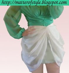 A Matter Of Style: DIY Fashion: DIY bow draped skirt