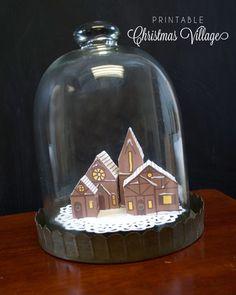 Silhouette America Blog | Create a Printable Christmas Village