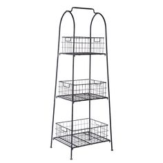 Foreside Home & Garden - Wire Basket Natural Display Shelf