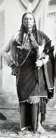 """Quanah Parker was half Comanche and half Scots-Irish. He was raised in the Noconis band of Comanche. His mother Cynthia Ann Parker was taken captive when she was nine and assimilated into the tribe. She later married Comanche Chief Peta Nocona. Quanah was an important leader of the Native American Church movement. His most famous teaching about spirituality was """"The White Man goes into his church and talks about Jesus. The Indian goes into his tipi and talks with Jesus.""""  OKLAHOMA"""