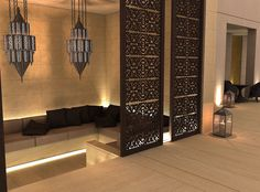 The Interior Design Project for a Luxury Villa in Kuwait City. Oriental Design, House Design, Moroccan Interiors, Interior, Decor Design, Spa Interior, Exterior Design, House Interior, Interior Design