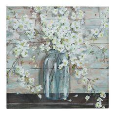 Tres Sorelle Mason Jar Canvas Art Print | Kirklands