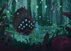 Corrupted Forest Nausicaa miyazaki 5x7 art print. $7.00, via Etsy. (Plus many other beautiful prints)