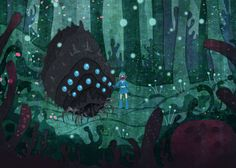 Corrupted Forest Nausicaa miyazaki 5x7 art print