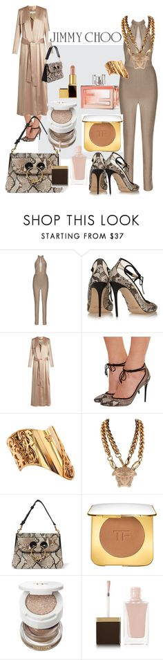 """Phyton Shoes and Bag"" by fabianajuan ❤ liked on Polyvore featuring Avery, Jimmy Choo, Galvan, Versace, Fendi, J.W. Anderson and Tom Ford"