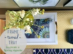#DIY tutorial of how you can take plain picture frame and transform it into a chic serving tray.