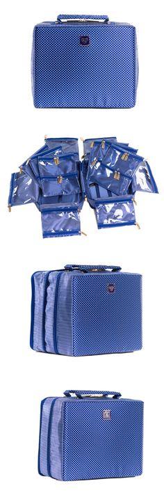 Multi-Purpose 168165: Pursen Tiara X-Large Jewelry Case Jetsetter Travel Organizer - Navy Tuxedo -> BUY IT NOW ONLY: $74 on eBay!