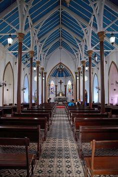 Interior da Igreja Matriz do Senhor Bom Jesus do Monte em Paquetá